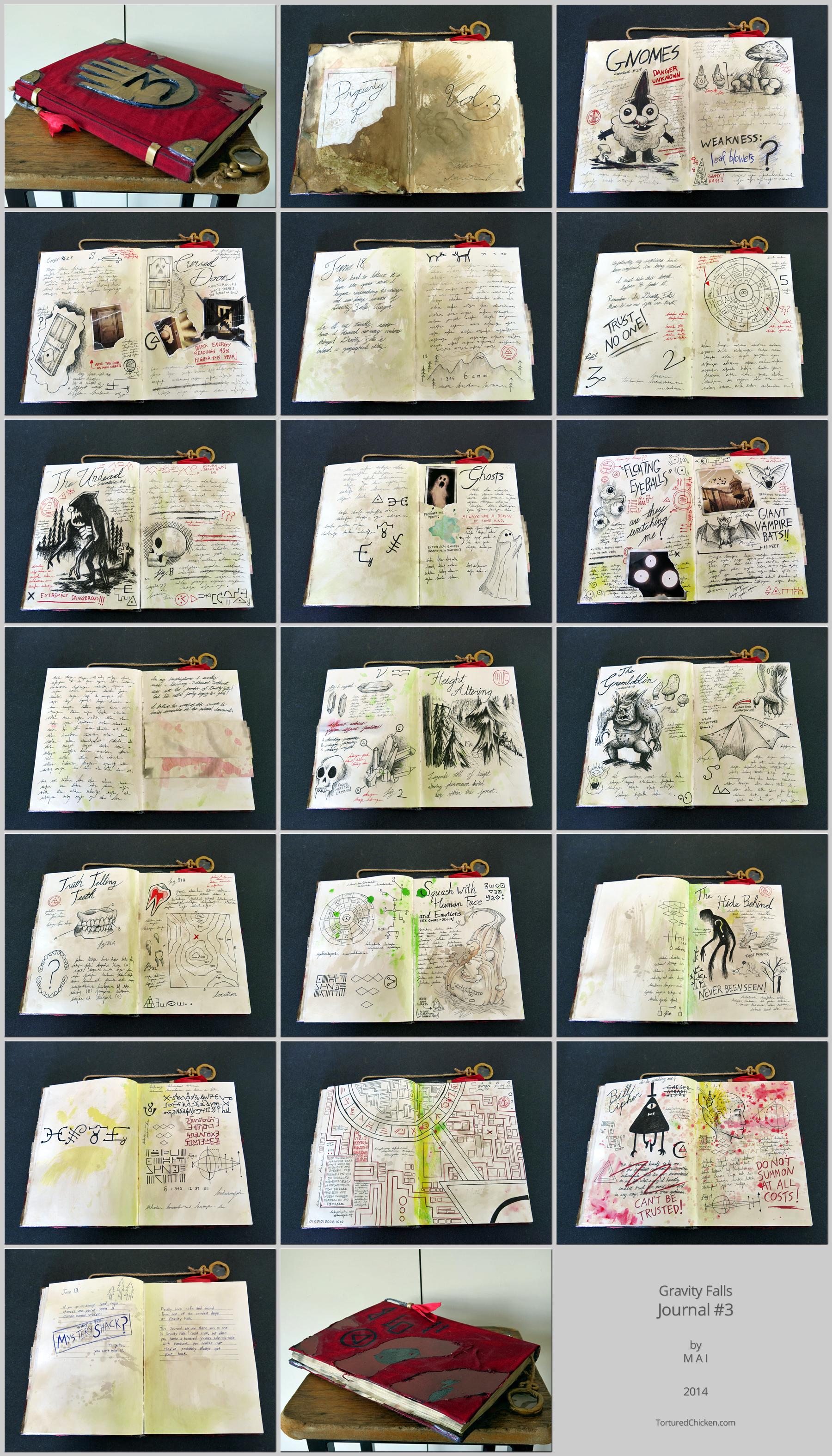 Gravity Falls, journal #3.