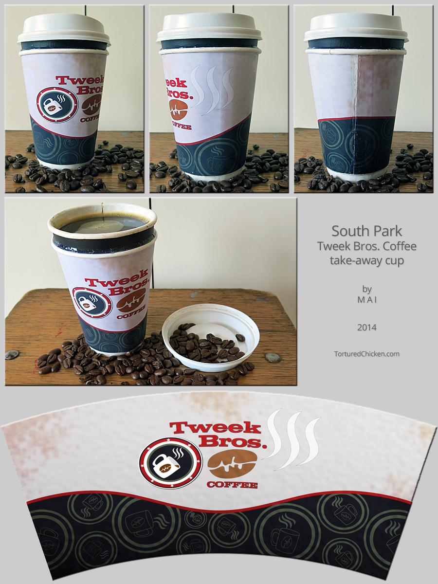 Tweek Bros. Coffee take away cup