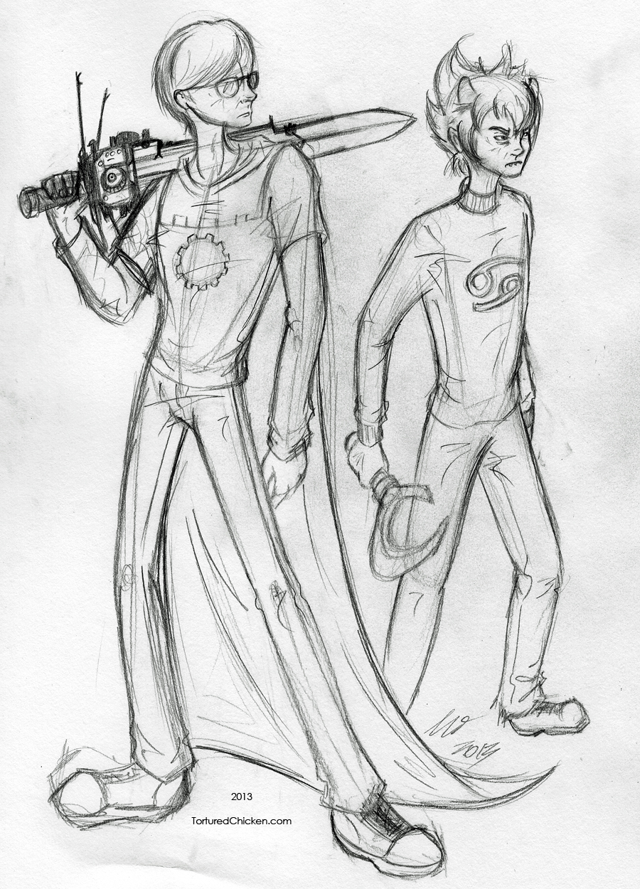 Karkat Vantas and Dave Strider from Homestuck