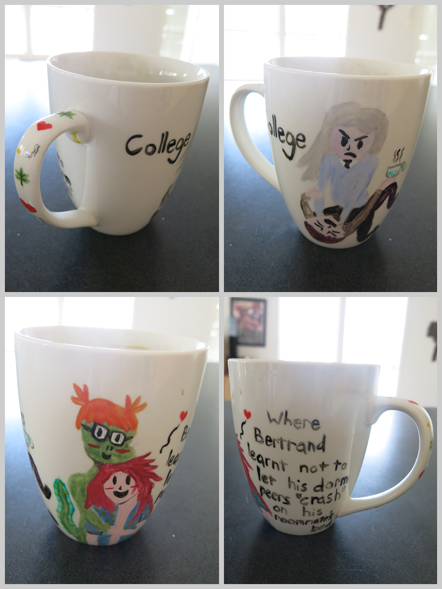 OC college AU mug